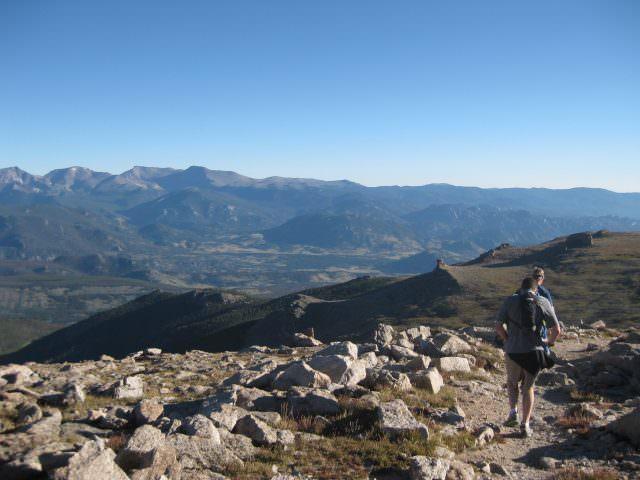 Running Down from Granite Pass