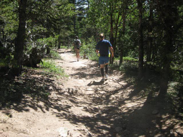Running Down to Longs Peak Trailhead
