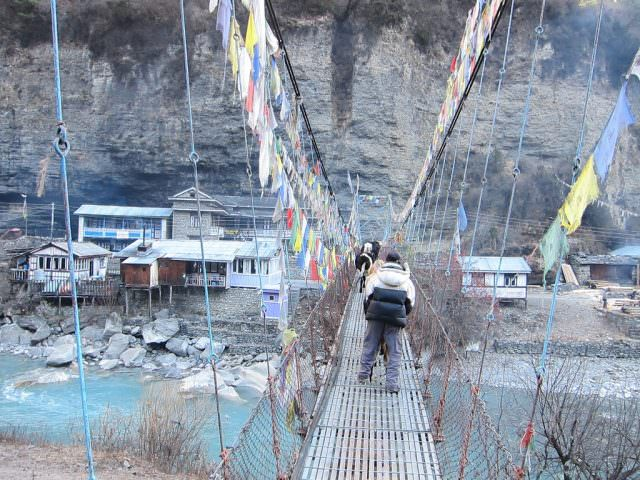 River Crossing In Nepal