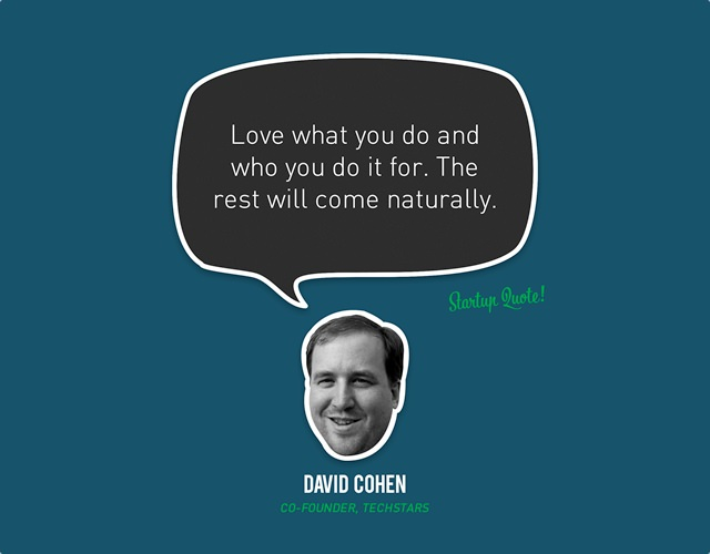 David Cohen Startup Quote