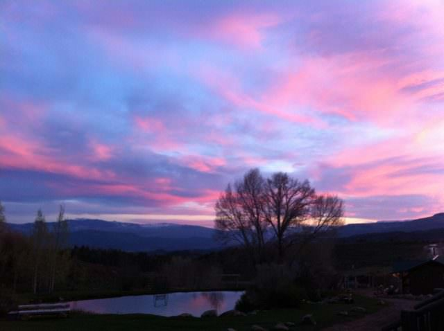 Sunset at Black Mountain Ranch in Colorado