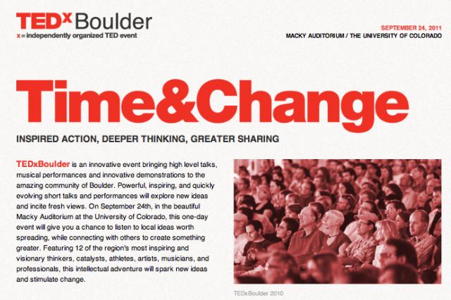 TEDxBoulder 2011