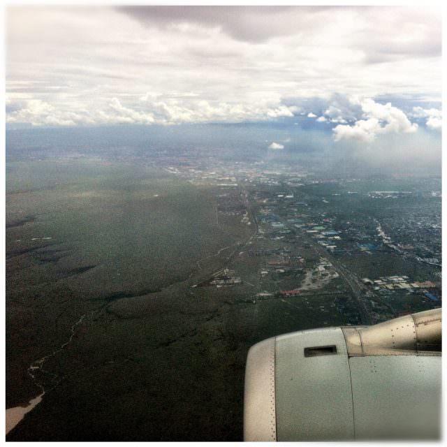 Flying into Nairobi, Kenya
