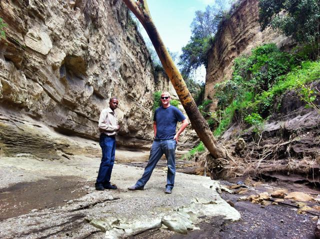 Chris and Andrew, Hells Gate, Kenya
