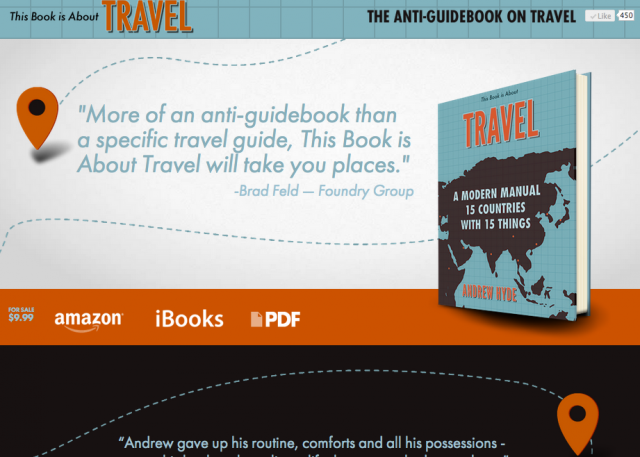 This Book is About Travel Website