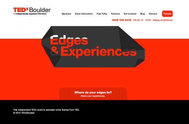 TEDxBoulder is September 22nd 2012