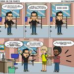 three-on-fourth webcomic by Ef Rodriguez featuring Andrew Hyde and Jeremy Tanner