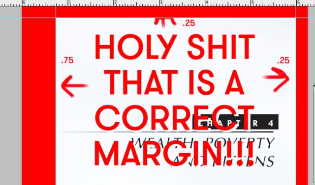 Create space correct margins